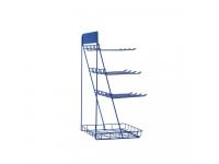 Suport prezentare accesorii telefon, 30 x 25 x 56 cm, Albastru