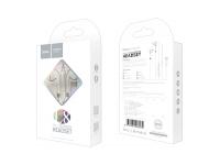 Handsfree Casti EarBuds HOCO Bluetooth L8, Cu microfon, USB Type-C, Alb, Blister