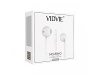 Handsfree Casti EarBuds VIDVIE HS604, Cu microfon, 3.5 mm, Alb, Blister