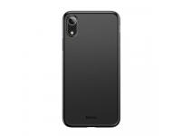 Husa Plastic Baseus Wing pentru Apple iPhone XR, Slim, Neagra, Blister WIAPIPH61-EA1