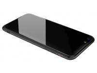 Husa TPU OEM cu spate din sticla pentru Apple iPhone 6 Plus / Apple iPhone 6s Plus, Neagra, Bulk