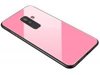Husa TPU OEM cu spate din sticla pentru Samsung Galaxy A6+ (2018) A605, Roz, Bulk