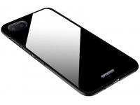 Husa TPU OEM cu spate din sticla pentru Xiaomi Redmi 6A, Neagra, Bulk
