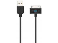 Cablu Date si Incarcare USB la A30 pini iGO PS00300-0002, Negru, Bulk