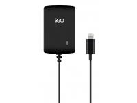 Incarcator Retea cu cablu Lightning iGO PS00342-0002, 1 X USB, Negru, Blister