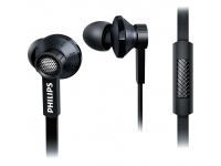 Handsfree Casti In-Ear Philips TX1 Hi-Res Audio, Cu microfon, 3.5 mm, Negru, Bulk TX1 BK/00