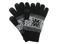 Manusi iarna Touchscreen Sensitive Charming Winter negre