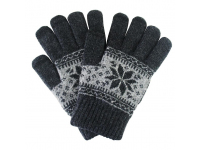 Manusi iarna Touchscreen Sensitive Charming Winter gri