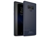 Husa TPU iPaky Carbon Fiber pentru Samsung Galaxy Note9 N960, Bleumarin, Blister