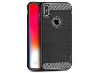 Husa TPU iPaky Slim Carbon pentru Apple iPhone XS Max, Neagra, Blister