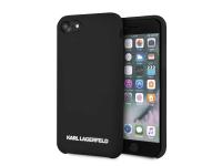 Husa TPU Karl Lagerfeld KLHCI8SLBKS pentru Apple iPhone 7 / Apple iPhone 8, Neagra, Blister
