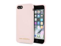 Husa TPU Karl Lagerfeld KLHCI8SLLPG pentru Apple iPhone 7 / Apple iPhone 8, Roz, Blister