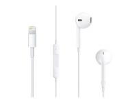 Handsfree Casti EarPods Apple MMTN2ZM/A, Cu microfon, Lightning, Alb, Bulk