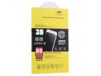 Folie Protectie Ecran OEM pentru LG V40 ThinQ, Sticla securizata, Full Face, Edge Glue, 3D, Neagra, Blister