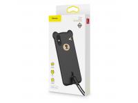 Husa TPU Baseus Bear pentru Apple iPhone X / Apple iPhone XS, Neagra, Blister