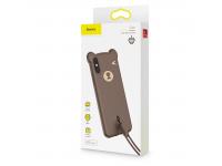 Husa TPU Baseus Bear pentru Apple iPhone X / Apple iPhone XS, Maro, Blister