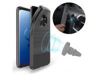 Husa TPU DUX DUCIS MOJO Carbon Magnetic Samsung Galaxy S9 G960, Neagra, Blister