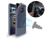 Husa TPU DUX DUCIS MOJO Carbon Magnetic Samsung Galaxy S9 G960, Bleumarin, Blister