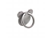 Suport inel universal telefon Oatsbasf Bear Ring 360, Argintiu, Blister