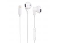 Handsfree Casti EarBuds OEM ME563, Cu microfon, USB Type-C, Alb, Blister