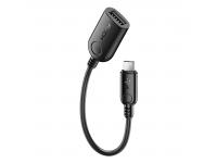 Adaptor OTG USB la MicroUSB Rock RCB0604, 0.21 m, Negru, Blister
