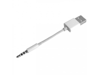 Cablu Date si Incarcare USB la 3.5 mm OEM pentru MP3 MP4 Player, 0.1 m, Alb, Bulk