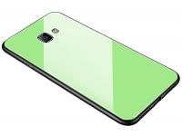Husa TPU OEM cu spate din sticla pentru Samsung J4 Plus (2018) J415, Verde, Bulk