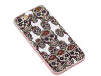Husa TPU OEM Noctilucent Skull pentru Apple iPhone 7 / Apple iPhone 8, Multicolor, Bulk