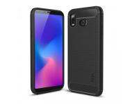 Husa TPU Mofi Carbon pentru Samsung Galaxy A6s, Neagra, Blister