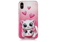 Husa TPU OEM Lovely Cats pentru Apple iPhone X / Apple iPhone XS, Multicolor, Bulk