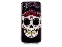 Husa TPU OEM Skull pentru Apple iPhone X / Apple iPhone XS, Multicolor, Bulk