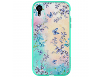 Husa Plastic Nillkin Blossom cu spate din sticla pentru Apple iPhone XR, Verde, Blister