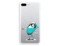 Husa TPU OEM Ultra Slim pentru Apple iPhone 7 / Apple iPhone 8, Birds, Multicolor, Bulk