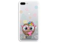 Husa TPU OEM Ultra Slim pentru Apple iPhone 7 / Apple iPhone 8, Owl, Multicolor, Bulk