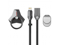 Pachet Suport Inel Universal, Cablu date USB la Lightning Si Suport Auto Totudesign, Blister