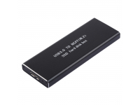 Carcasa externa SSD NGFF (M.2) cu USB 3.0, Neagra, Blister