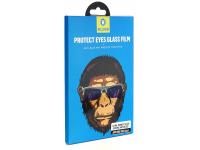 Folie Protectie Ecran Mr. Monkey Glass pentru Apple iPhone X / Apple iPhone XS, Sticla securizata, Full Face, Full Glue, Strong Anti-Blue, Neagra, Blister