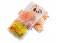 Husa TPU OEM Liquid Glitter pentru Apple iPhone X / Apple iPhone XS, Aurie, Blister