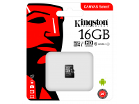 Card Memorie MicroSDHC Kingston fara adaptor, 16Gb, Clasa 10 - UHS-1 U1, Blister SDCS/16GBSP