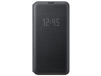 Husa Textil Samsung Galaxy S10e G970, Led View, Neagra EF-NG970PBEGWW
