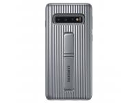 Husa Plastic Samsung Galaxy S10 G973, Standing, Argintie, Blister EF-RG973CSEGWW