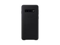 Husa Piele Samsung Galaxy S10 G973, Leather Cover, Neagra, Blister EF-VG973LBEGWW