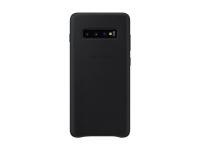 Husa Piele Samsung Galaxy S10+ G975, Leather Cover, Neagra, Blister EF-VG975LBEGWW