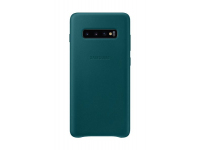 Husa Piele Samsung Galaxy S10+ G975, Leather Cover, Turquoise, Blister EF-VG975LGEGWW