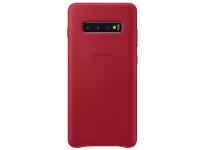 Husa Piele Samsung Galaxy S10+ G975, Leather Cover, Rosie EF-VG975LREGWW