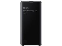 Husa Plastic Samsung Galaxy S10 G973, Clear view, Neagra, Blister EF-ZG973CBEGWW