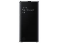 Husa Plastic Samsung Galaxy S10+ G975, Clear View, Neagra, Blister EF-ZG975CBEGWW