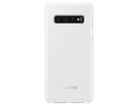 Husa Samsung Galaxy S10 G973, LED Cover, Alba, Blister EF-KG973CWEGWW