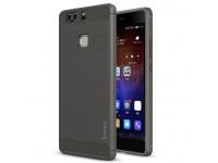 Husa TPU iPaky Carbon pentru Huawei P9, Gri, Blister