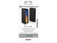 Husa Piele Phonix pentru Samsung J4 Plus (2018) J415, Neagra, Blister SJ4PBCB